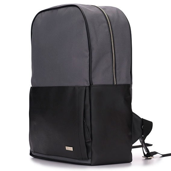 Męski plecak miejski na laptopa Solier SR01 FORRES szaro czarny