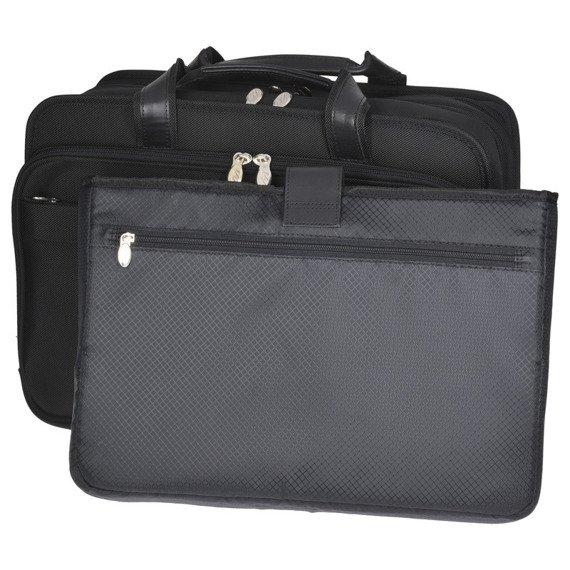 """Nylonowa torba biznesowa na laptopa 17"""" Mcklein Walton 73985"""