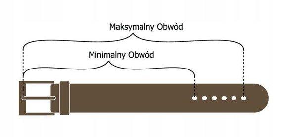 Pasek męski czarny ROVICKY PRS-01-BGE 109-124 115CM
