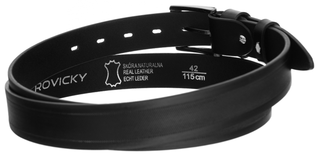 Pasek męski czarny Rovicky PRS-01-G