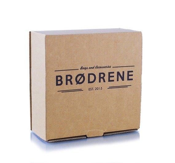 Pasek męski skórzany Brodrene LIC30 czarny
