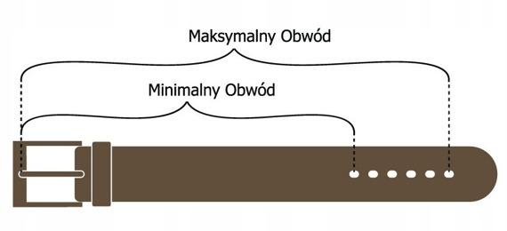 Pasek męski skórzany Buffalo Wild brązowy