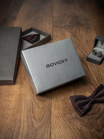 Pasek męski skórzany Rovicky BOM-01-TX 110cm czarny