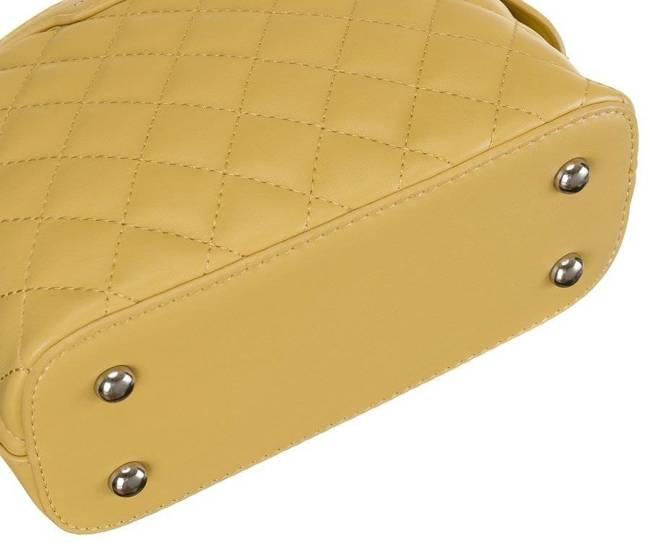 Pikowana listonoszka żółta David Jones CM6029 YELLOW
