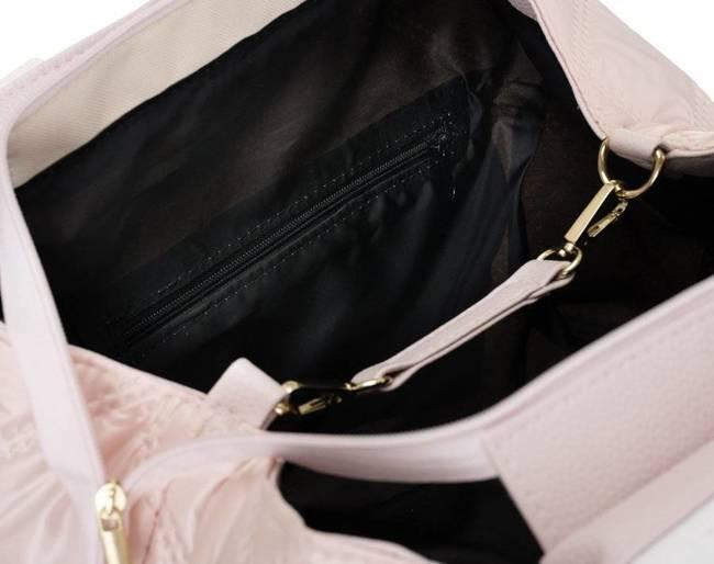 Pikowana shopperka różowa Badura T_D227PIK_RÓŻ