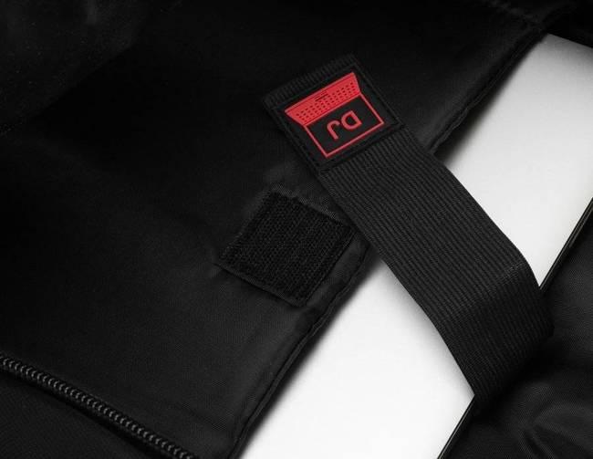 Plecak czarny z czerwonymi wstawkami David Jones PC-024 BLACK-RED