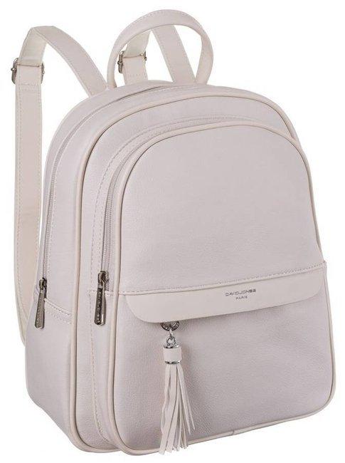 Plecak damski beżowy David Jones 6313-2 CREAMY WHITE