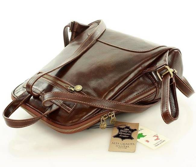 Plecak damski brązowy MARCO MAZZINI pl30c