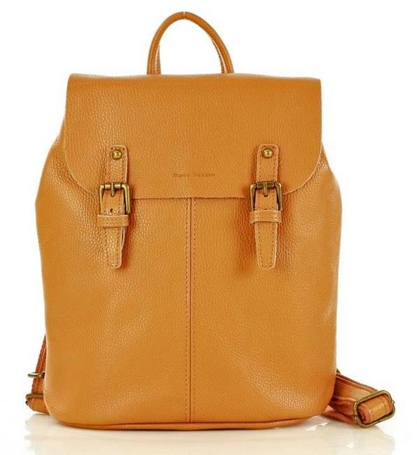 Plecak damski camel MARCO MAZZINI PL57c