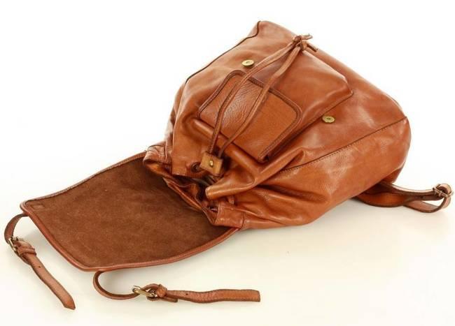 Plecak damski camel MARCO MAZZINI v131a
