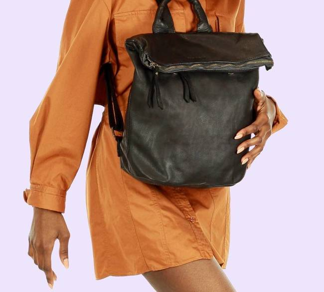 Plecak damski czarny  MARCO MAZZINI v130a