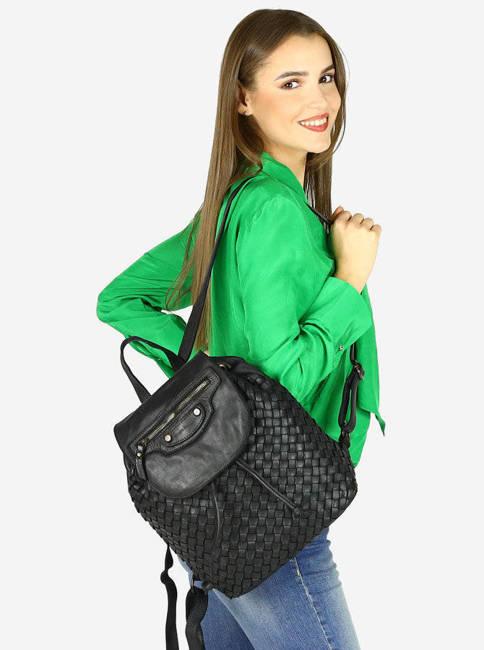 Plecak damski czarny MARCO MAZZINI v99a