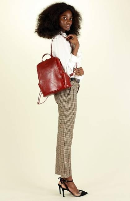 Plecak damski czerwony MARCO MAZZINI pl56c