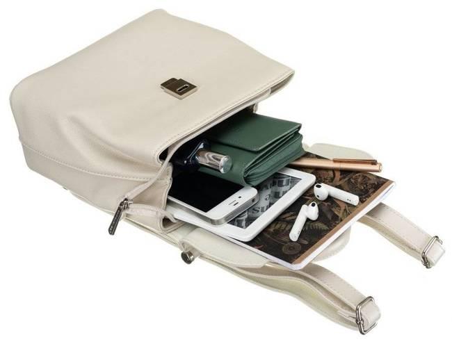 Plecak damski ecru David Jones 6309-2 CR. WHITE