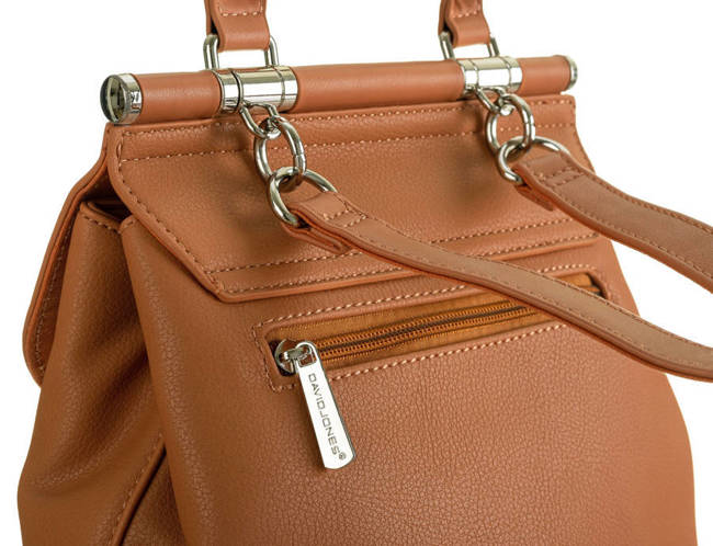 Plecak damski koniakowy David Jones 6309-2 COGNAC