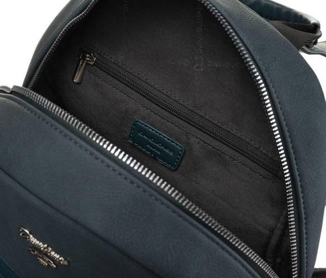 Plecak damski niebieski David Jones 6612-3A PEACOCK BLUE