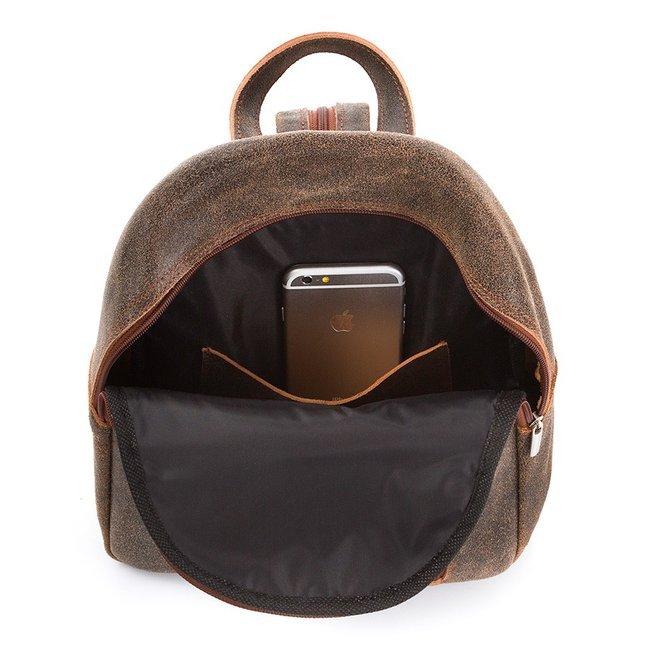 Plecak damski skórzany vintage brązowy Paolo Peruzzi X-06