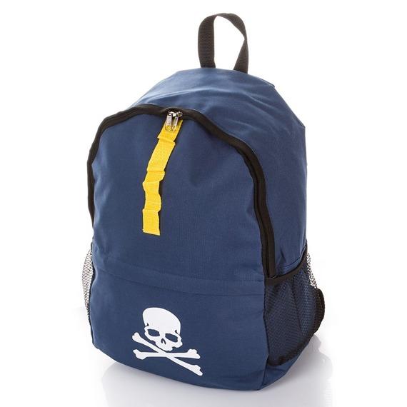 Plecak młodzieżowy szkolny z czaszką wodoodporny M-21 granat