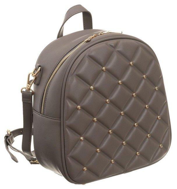 Plecak pikowany z nitami torebka 2w1 Monnari beż 3890