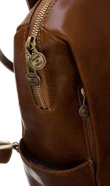 Plecak w stylu vintage camel Badura T_D187CA_CD