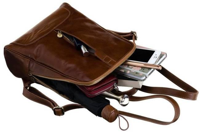 Plecak w stylu vintage camel Badura T_D193CA_CD