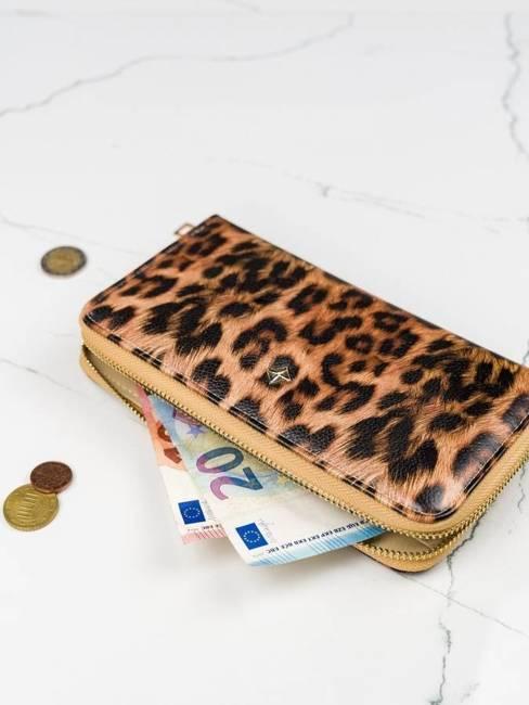 Pojemny portfel damski brązowy Milano Design