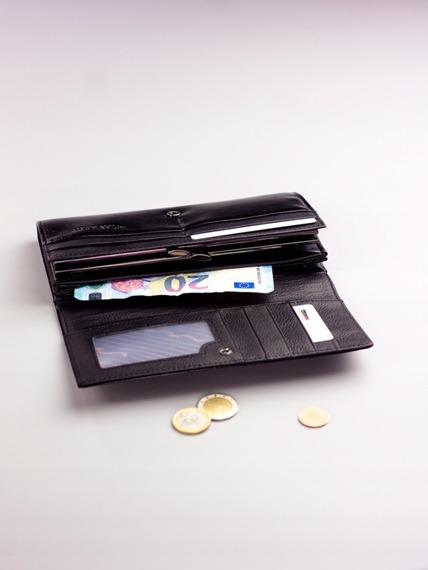 Pojemny portfel damski czarny PX24-2