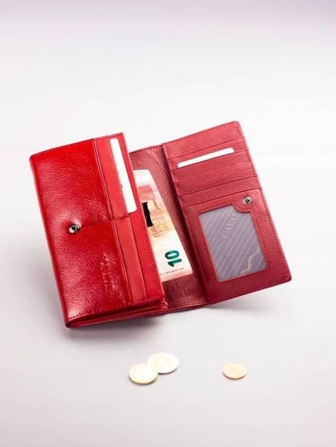 Pojemny portfel damski czerwony PX24-2