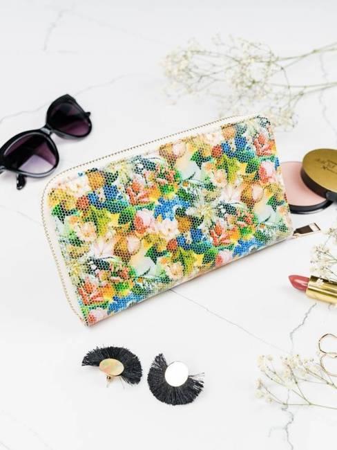 Pojemny portfel damski zielony Milano Design