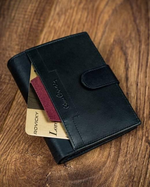 Portfel czarny z czerwona wstawką Pierre Cardin 326A VO02