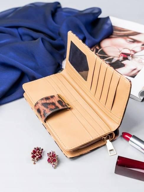 Portfel damski Milano Design brązowy print Y1208-PT