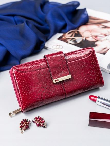 Portfel damski Milano Design czerwony Y1208-SNM