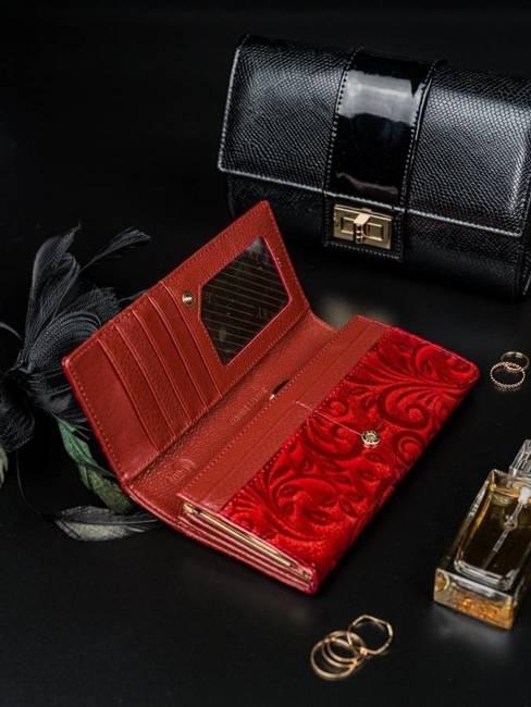 Portfel damski Rovicky czerwony 8801-JXW RED