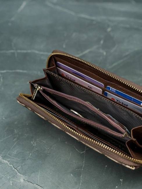 Portfel damski brązowy Lorenti 77006-PT BROWN