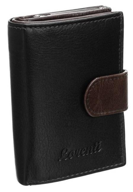 Portfel damski czarno-brązowy Lorenti LT-01-BCF BROWN