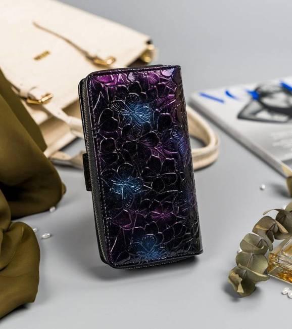 Portfel damski czarno-niebieski Pierre Cardin 116-LADY18