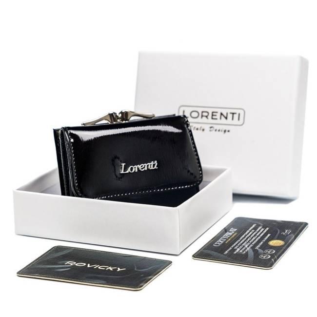Portfel damski czarny Lorenti 55287-SH NAPIS BLACK
