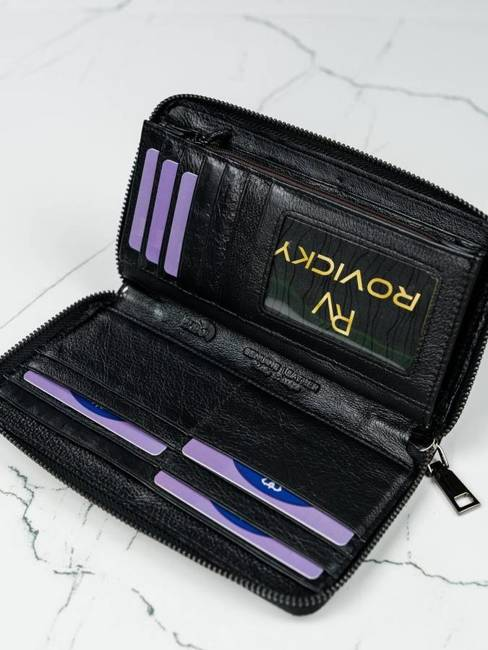 Portfel damski czarny Lorenti 76119-NIC RFID BLACK