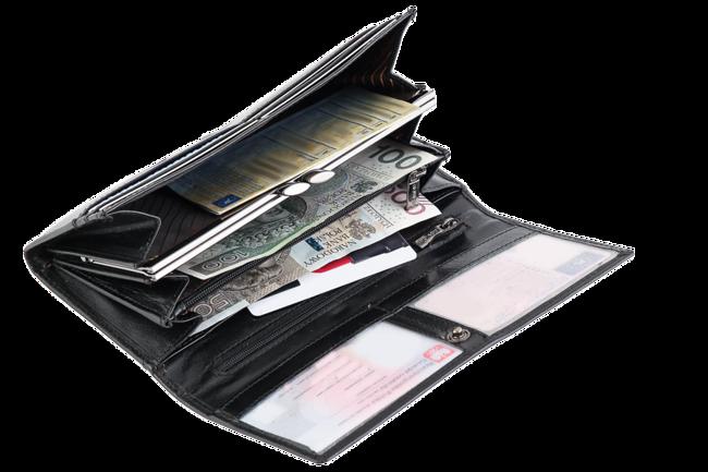 Portfel damski czarny Rovicky CPR-015-ASL BLACK