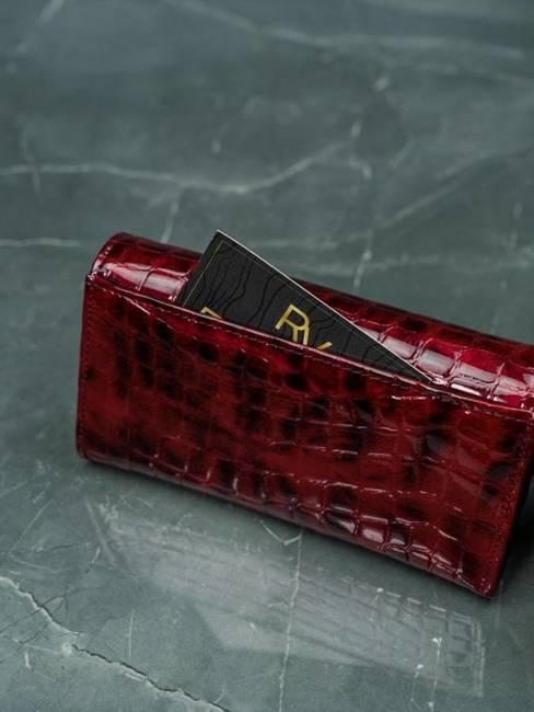 Portfel damski czerwony LORENTI 76110-PT RED