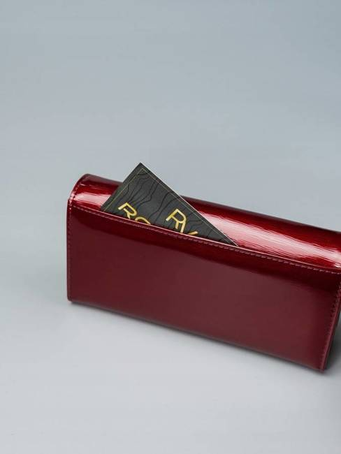 Portfel damski czerwony Lorenti 72401-SH NAPIS RED