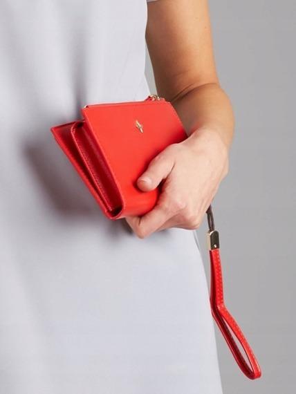 Portfel damski czerwony Milano Design 1834