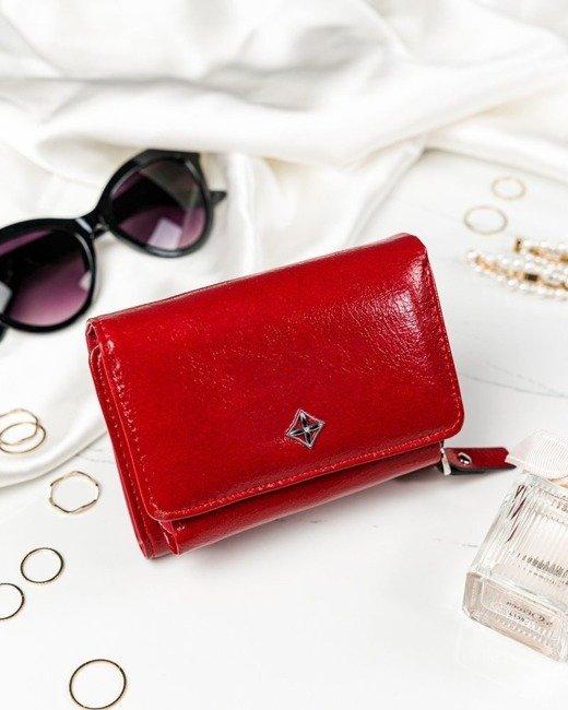 Portfel damski czerwony Milano Design SF1858-ML RED