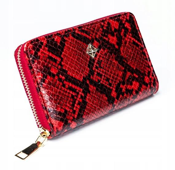 Portfel damski na zamek Milano Design czerwony