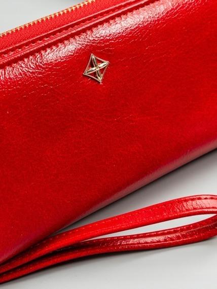 Portfel damski na zamek czerwony Milano Design 1802