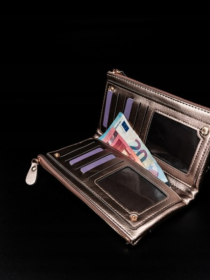 Portfel damski na zamek złoty Milano Design