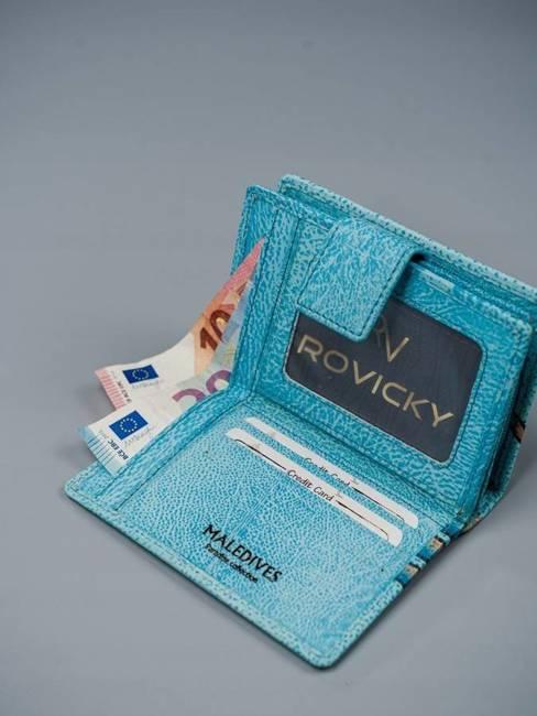 Portfel damski niebieski Rovicky  R-N109-ART-03 BLUE