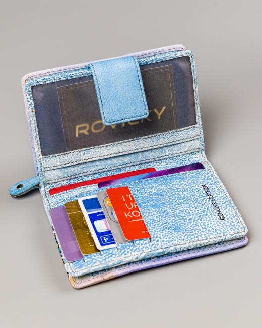 Portfel damski niebieski Rovicky R-N109-ART-17 SKY BL
