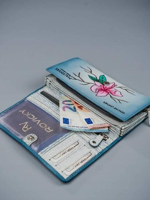Portfel damski niebieski Rovicky R-N22-ART-01 GRAY