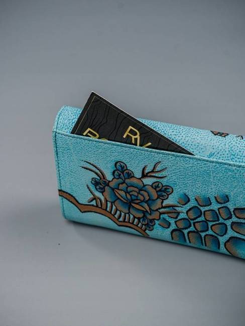 Portfel damski niebieski Rovicky R-N22-ART-03 BLUE